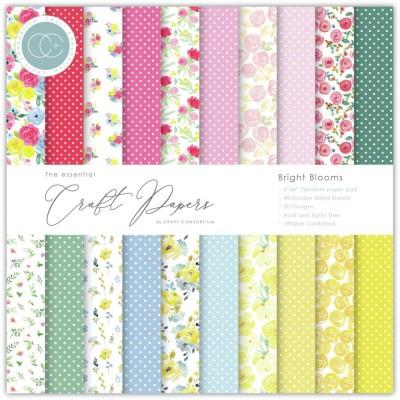 "Craft Consortium - «Bright Blooms» paquet de papier  6"" X 6"""