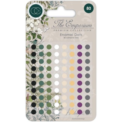Craft Consortium - enamel dots autocollant «The Emporium» 80 pièces