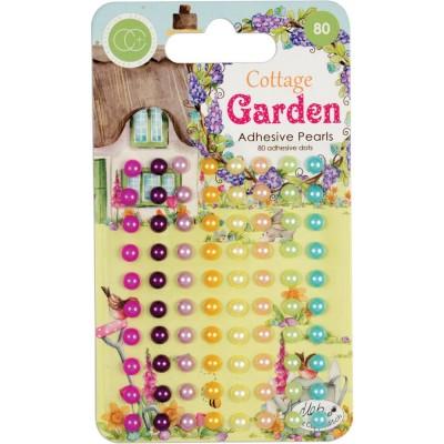 Craft Consortium - enamel dots autocollant «Cottage Garden Couleurs assorties» 80 pièces