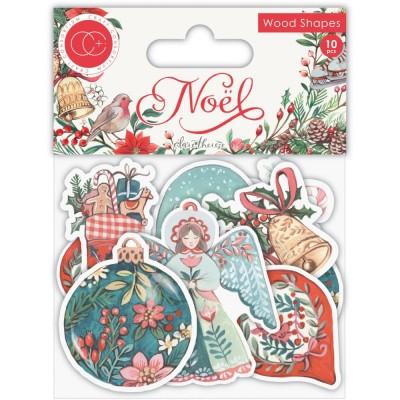 Craft Consortium - Embellissements en bois «Noël» 10 pièces