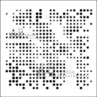 """AB Studio - Stencil «ID-15» 6"""" X 6"""""""