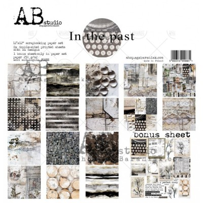 "AB Studio - Ensemble de papier «In the past» 12 ""X12"" recto-verso 12 feuilles / Pqt"