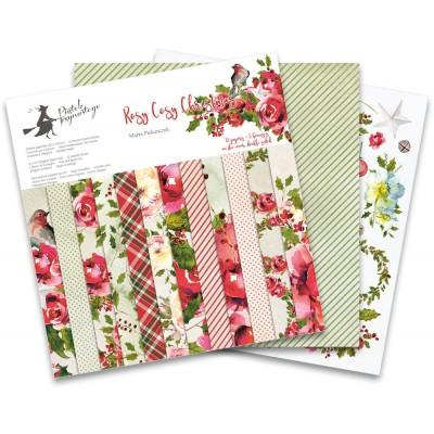 """P13 - Bloc de papier «Rosy Cosy Christmas» 12"""" X 12"""" 12 pages"""