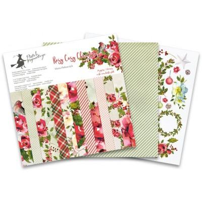 """P13 - Bloc de papier «Rosy Cosy Christmas» 6"""" X 6"""" 24 pages"""