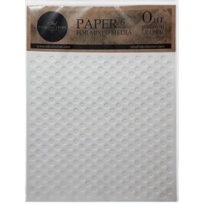 LIQUIDATION -ITD Collection - Papier Mix Media «Dots 6X»   (le prix indiqué ci-dessous est déjà à 50% de rabais)