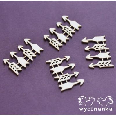 Wycinanka - Flèche vintage office paquet de 16