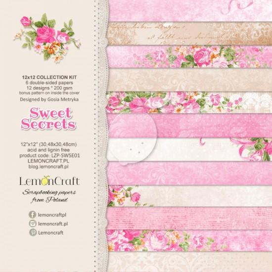 """Lemoncraft - """"Sweet Secrets"""" ensemble de papier  6 feuilles 12"""" X 12"""""""