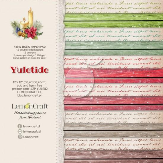"""Lemoncraft - """"Yuletide"""" ensemble de papier  12 feuilles 12"""" X 12"""""""