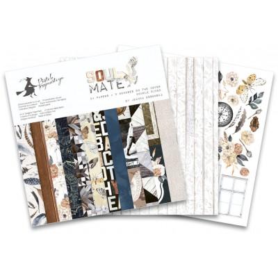 """P13 - Bloc de papier «Soulmate» 6"""" X 6"""" 24 pages"""