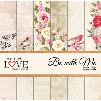 "Laserowe - Collection de papier 12"" X 12"" recto-verso 6 feuilles «Be with Me»"