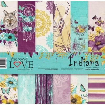 "Laserowe - Collection de papier 12"" X 12"" recto-verso 6 feuilles «Indiana»"