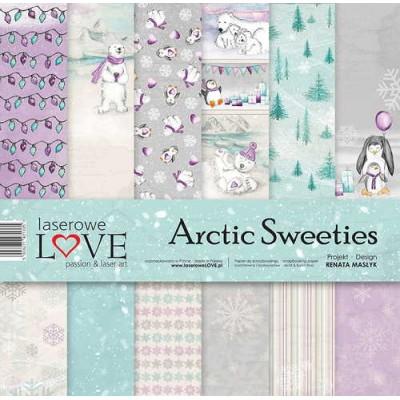 """Laserowe - Collection de papier 12"""" X 12"""" recto-verso 6 feuilles «Arctic Sweeties»"""