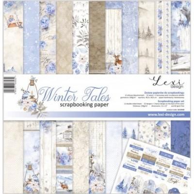 "Laserowe - Collection de papier 12"" X 12"" recto-verso 11 feuilles «Winter Tales»"