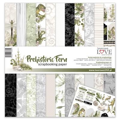 "Laserowe - Collection de papier 12"" X 12"" recto-verso 11 feuilles «Prehistoric fern»"