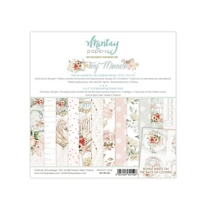 "Mintay - Papier 6"" X 6""  collection «Tiny Miracle» 24 pages recto-verso"