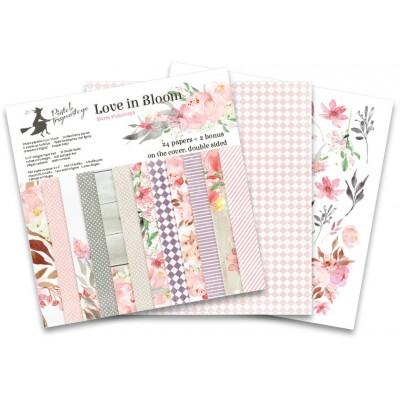 """P13 - Bloc de papier «Love in Bloom» 6"""" X 6"""" 24 pages"""