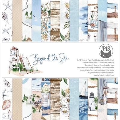 """P13 - Bloc de papier «Beyond The Sea» 12"""" X 12"""" 12 pages"""