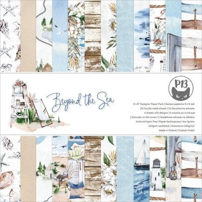 """P13 - Bloc de papier «Beyond The Sea» 6"""" X 6"""" 24 pages"""