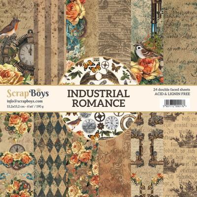 """ScrapBoys - Ensemble de papier «Industrial Romance» 6""""X6"""" de 24 feuilles recto-verso"""
