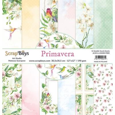 """ScrapBoys - Ensemble de papier «Primavera» 12""""X12"""" de 12 feuilles recto-verso"""