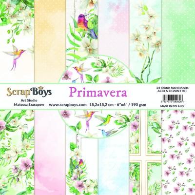 """ScrapBoys - Ensemble de papier «Primavera» 6""""X6"""" de 24 feuilles recto-verso"""