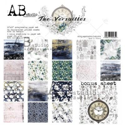 """AB Studio - Ensemble de papier «The Versailles» 12 """"X12"""" recto-verso 12 feuilles / Pqt"""