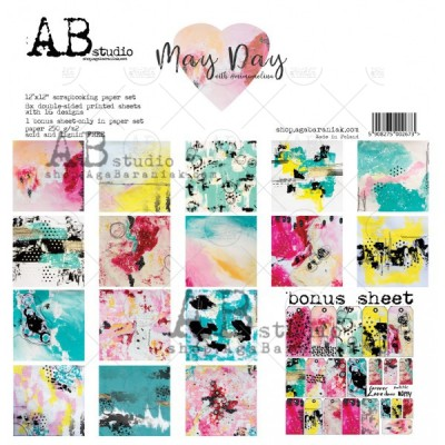 "AB Studio - Ensemble de papier «May Day» 12 ""X12"" recto-verso 12 feuilles / Pqt"