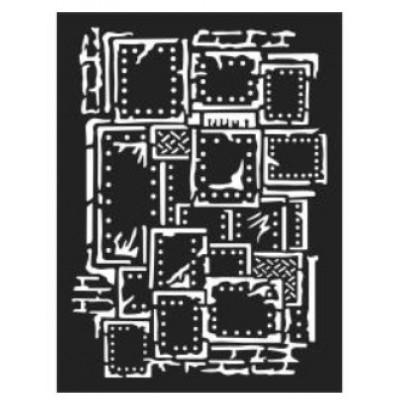 "Stamperia - Stencil «Steampunk» 6"" x 8"""