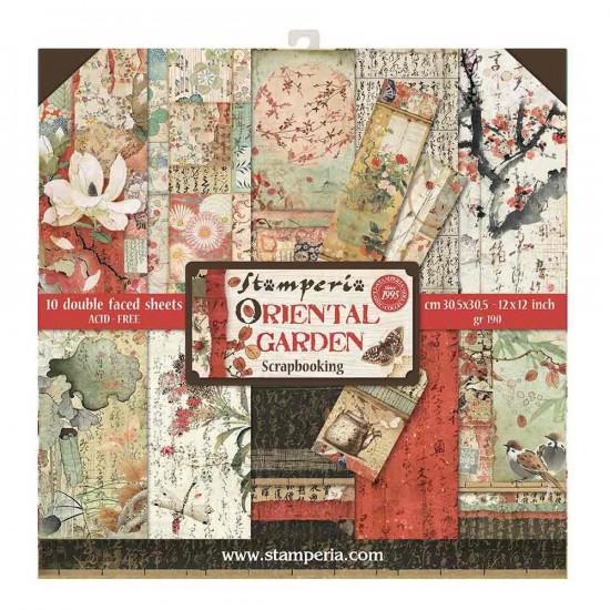 "Stamperia  -  Papier 12"" X 12"" «Oriental Garden», 10 feuilles double- face"