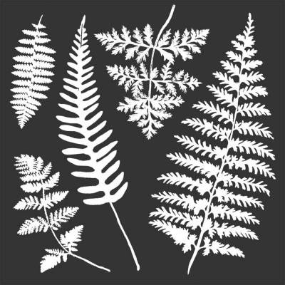 "Stamperia - Stencil «Leaves» 7"" X 7"""