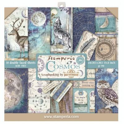 "Stamperia  - Ensemble de papier «Cosmos» 8"" x 8""  10 feuilles"