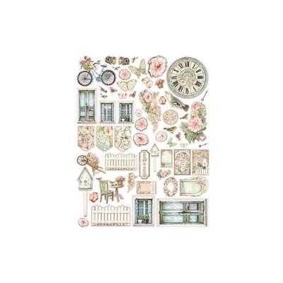 Stamperia - Éphéméra «House Of Roses» ensemble 59 pcs