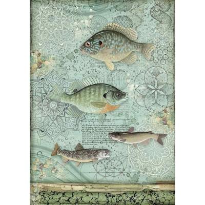 Stamperia - Papier de riz «Fish»