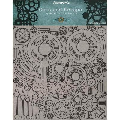 "Stamperia - Chipboard «Clock & Hands» 12"" x 12"""