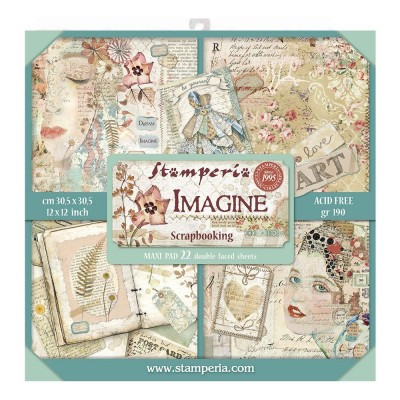 "Stamperia  -  Papier 12"" X 12"" «Imagine», 22 feuilles double- face"