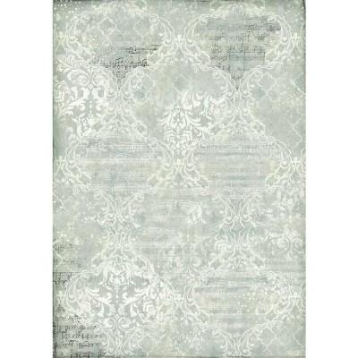 Stamperia - Papier de riz «Damascato Blu»
