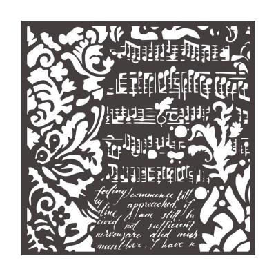 """Stamperia - Stencil «Wallpaper Fantasy» 6"""" x 6"""""""