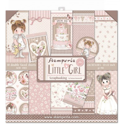"Stamperia - Papier 12"" X 12"" «Little Girl», 10 feuilles double- face"