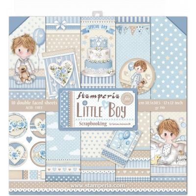 "Stamperia - Papier 12"" X 12"" «Little Boy», 10 feuilles double- face"