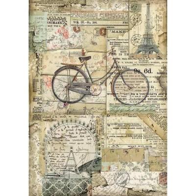 Stamperia - Papier de riz «Bicycle»