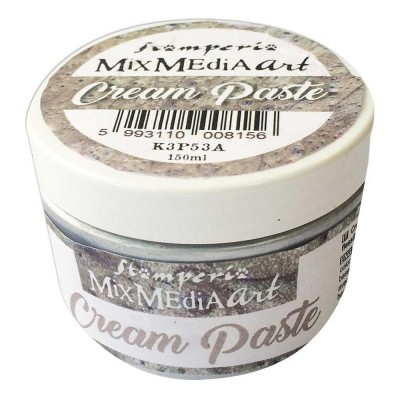 Stamperia - Metallic Cream Paste couleur «Silver» 150 ml