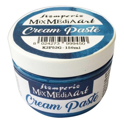 Stamperia - Metallic Cream Paste couleur «Blue» 150 ml