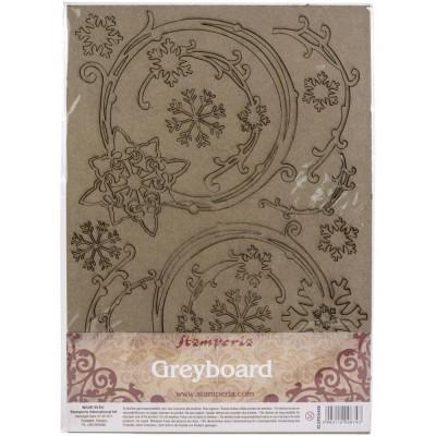 """LIQUIDATION-  Stamperia - Chipboard «Snowflakes & Garlands» 8"""" x 12""""   (le prix indiqué ci-dessous est déjà à 50% de rabais)"""