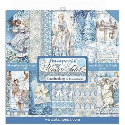 "Stamperia  -  Papier 12"" X 12"" «Winter Tales», 10 feuilles double- face"