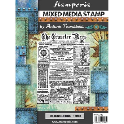 Stamperia - Estampes de Antonis Tzanidakis «The Traveler's News» 1 pièce