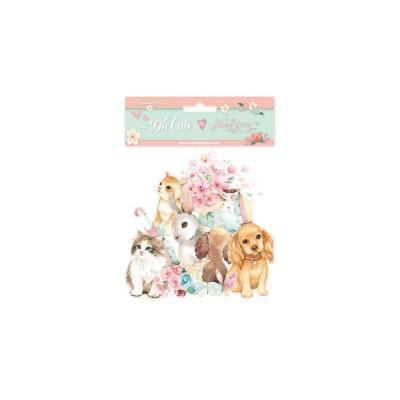 PRÉCOMMANDE-  Stamperia - Éphéméras «Circle Of Love Cats & Dogs»