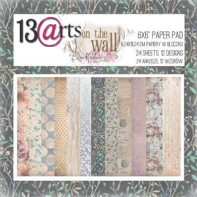 "13 Arts - Bloc de papier «On the Wall»  24 feuilles recto  6"" X 6"""