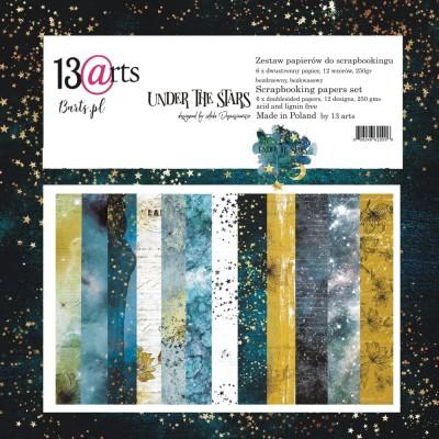 "13 Arts - Collection de papier  «UNDER THE STARS» 6 feuilles recto verso  12"" X 12"""