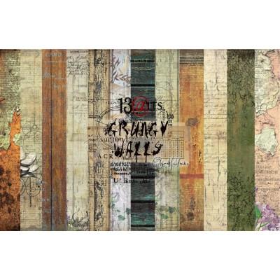 """13 Arts - Collection de papier  «Grungy Walls» 6 feuilles recto verso  12"""" X 12"""""""