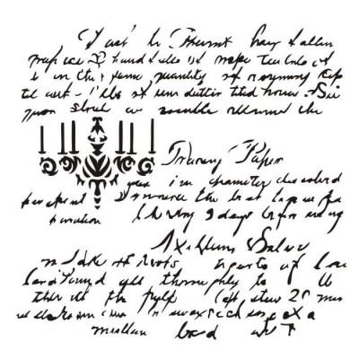 "13Arts - Stencil «Dear Rosalie» 6""X6"""